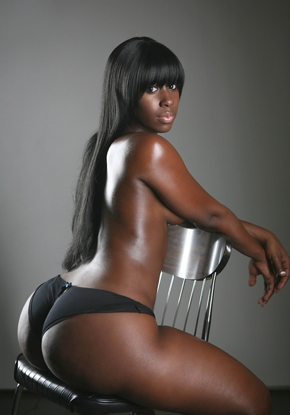 Thick ebony girl