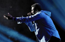 J. Cole performs at Powerhouse 2014 at Barclays Center in Brooklyn, N.Y.